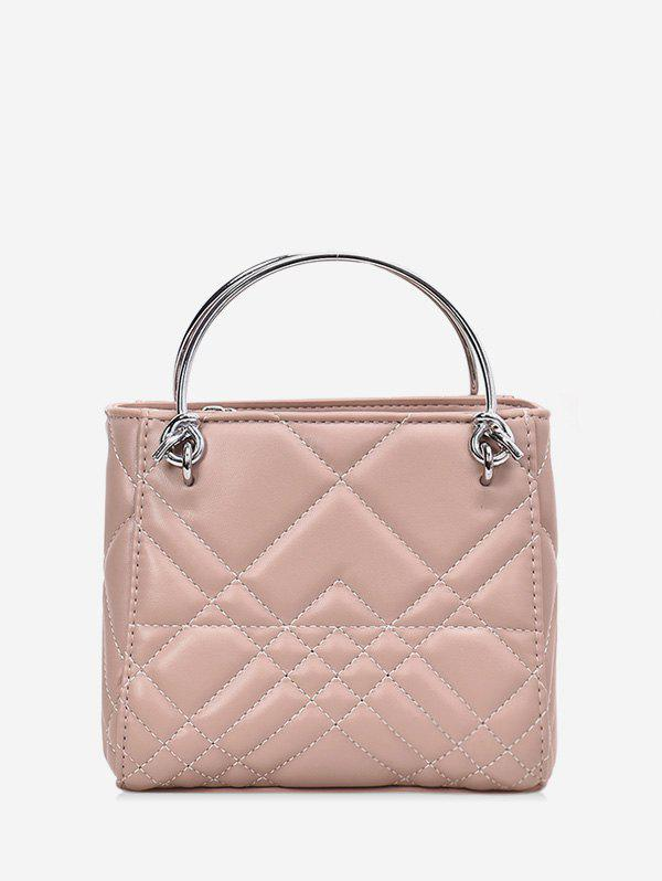 Buy Square Quilted Metal Handbag