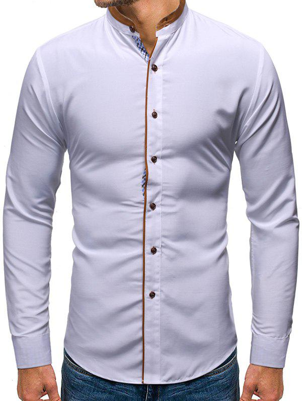Outfit Solid Color Button Up Casual Long-sleeved Shirt