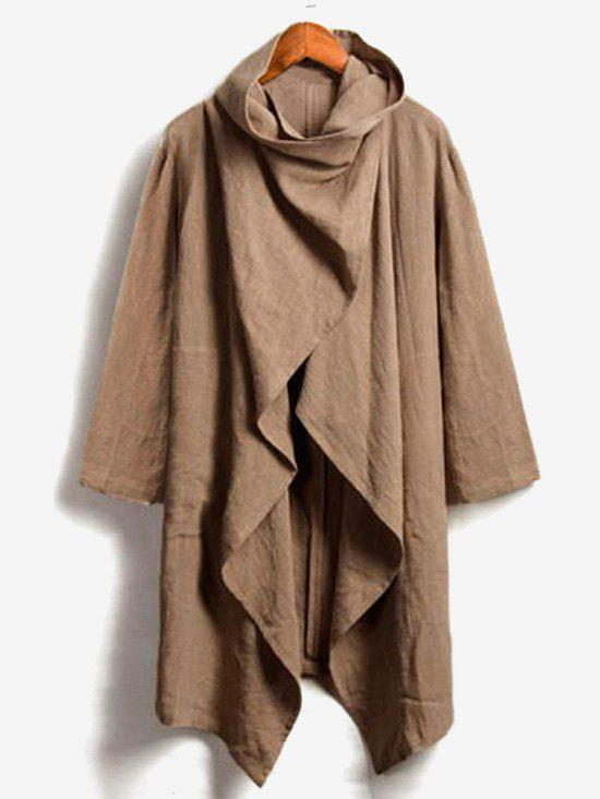 Hot Solid Color Casual Trench Coat