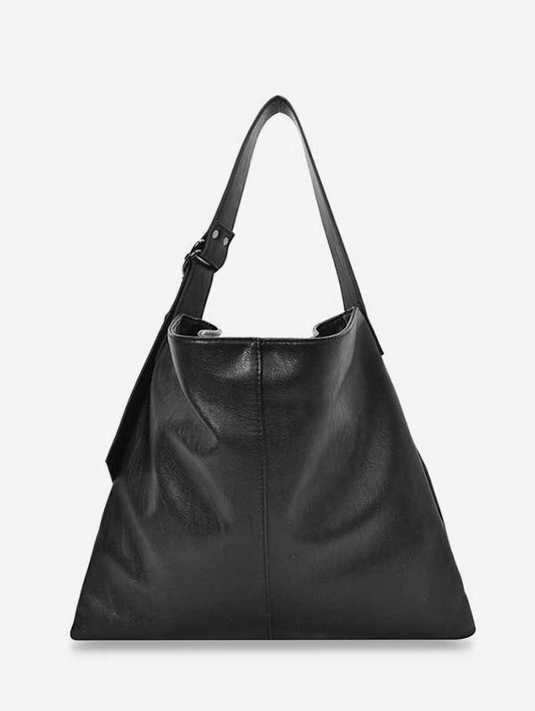 Sale Solid Big Soft Leather Tote Bag