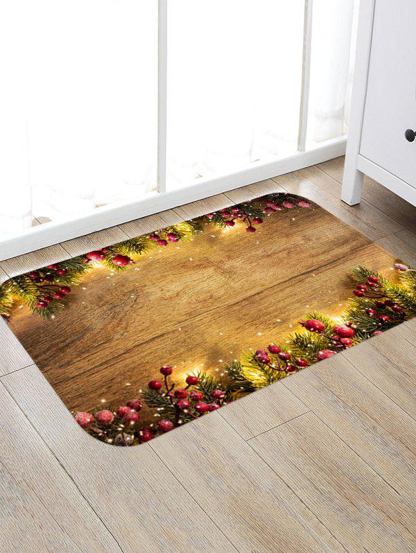 Affordable Wooden Board Berry Pattern Floor Rug