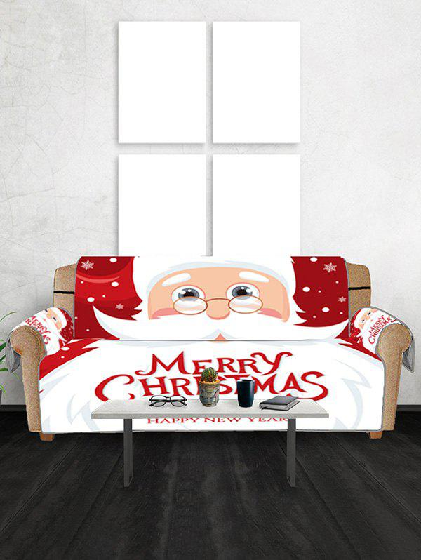 Online Father Christmas Couch Cover
