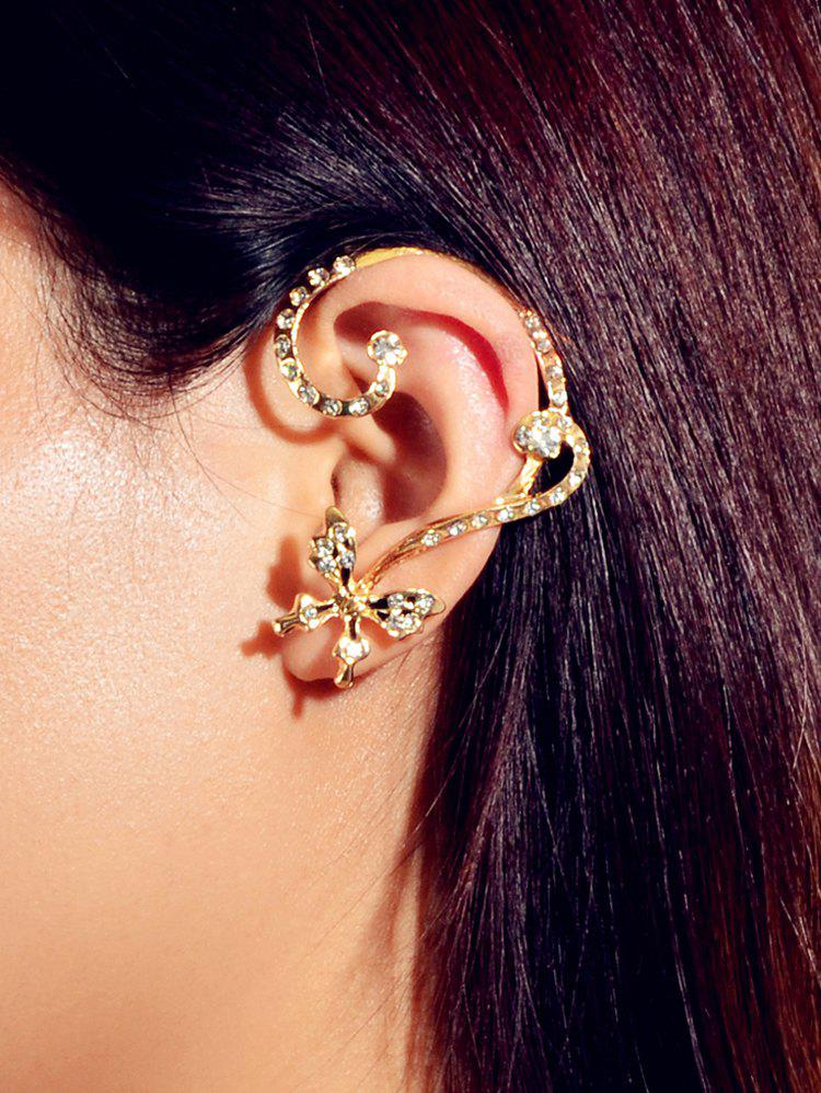 Outfits Asymmetric Rhinestone Butterfly Stud Earrings