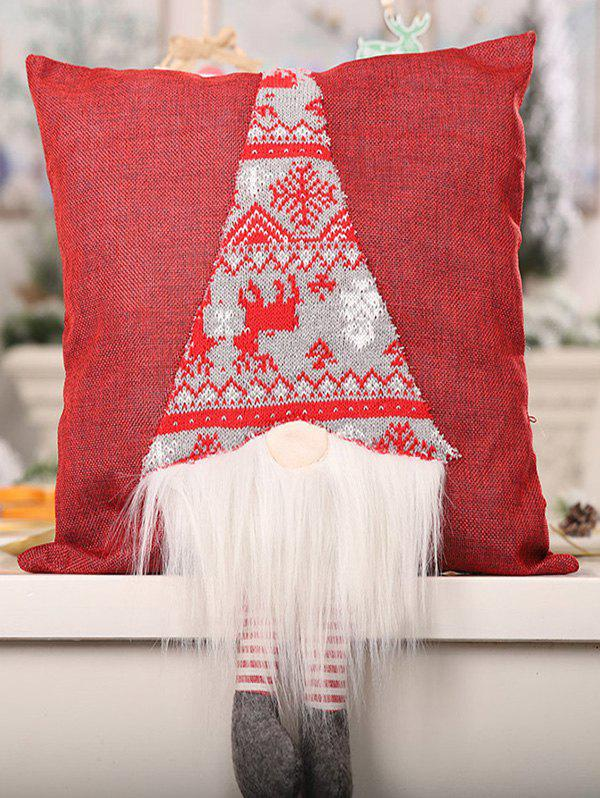 Store Christmas Snowflake Print Faux Fur Panel Doll Decorative Pillowcase