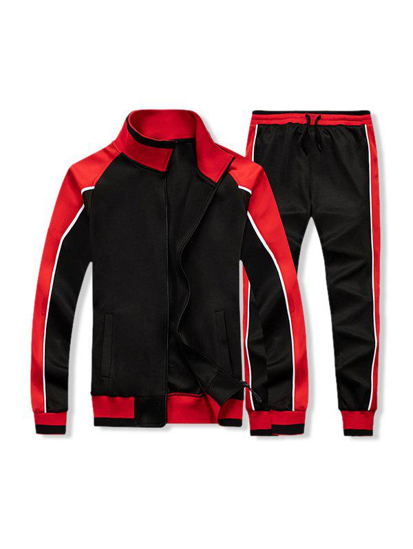 Hot Colorblock Two Piece Gym Outfits