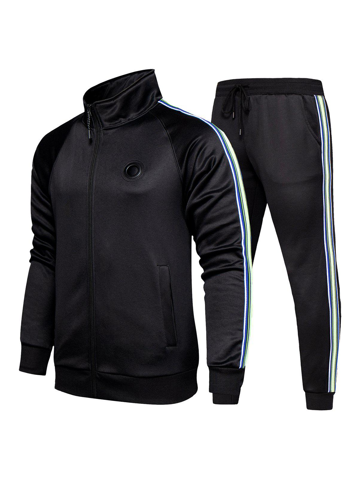 Latest Striped Two Piece Gym Outfits