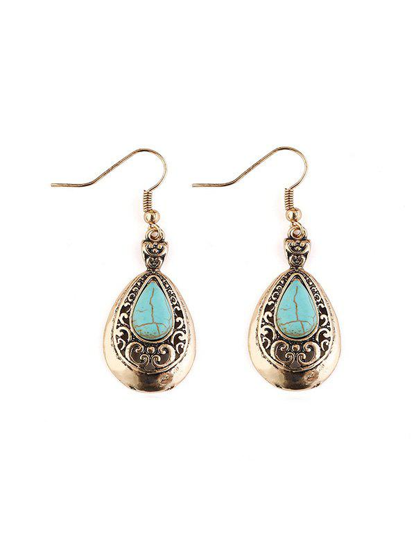 Outfit Ethnic Turquoise Teardrop Earrings