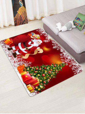 Christmas Tree Gifts Santa Claus Pattern Water Absorption Area Rug - from $45.99
