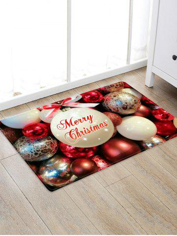 Christmas Bowknot Balls Greeting Pattern Water Absorption Area Rug - from $7.84