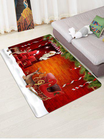 Christmas Santa Claus Sleigh Brick House Pattern Water Absorption Area Rug - from $35.99
