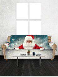 Christmas Santa Claus Snow Patterned Couch Cover -