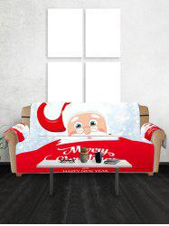 Santa Merry Christmas Print Decor Sofa Cover -