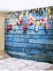 Christmas Gift Wooden Printed Tapestry -