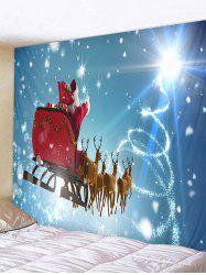 Father Christmas Deer Printed Tapestry -