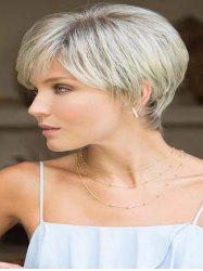 Side Bang Straight Short Ombre Synthetic Wig -