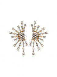 Firework Shape Rhinestone Stud Earrings -