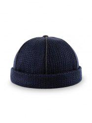 Solid Adjustable Knitted Dome Hat -