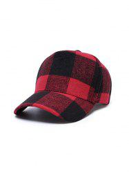 Winter Plaid Pattern Baseball Cap -