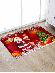 Christmas Tree Gifts Santa Claus Pattern Water Absorption Area Rug -