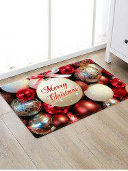 Christmas Bowknot Balls Greeting Pattern Water Absorption Area Rug -