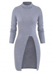 Cut Out Solid Long Sleeves Knitwear -