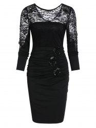 Sexy Lace See Through Sheath Dress -