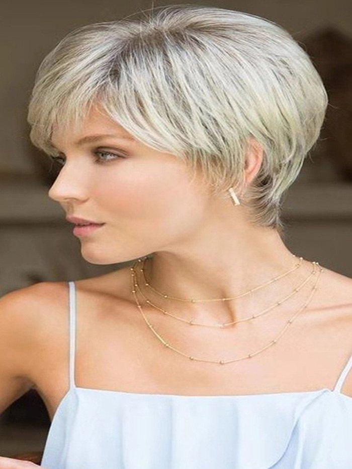 Online Side Bang Straight Short Ombre Synthetic Wig