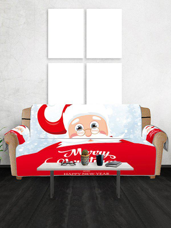 Best Santa Merry Christmas Print Decor Sofa Cover