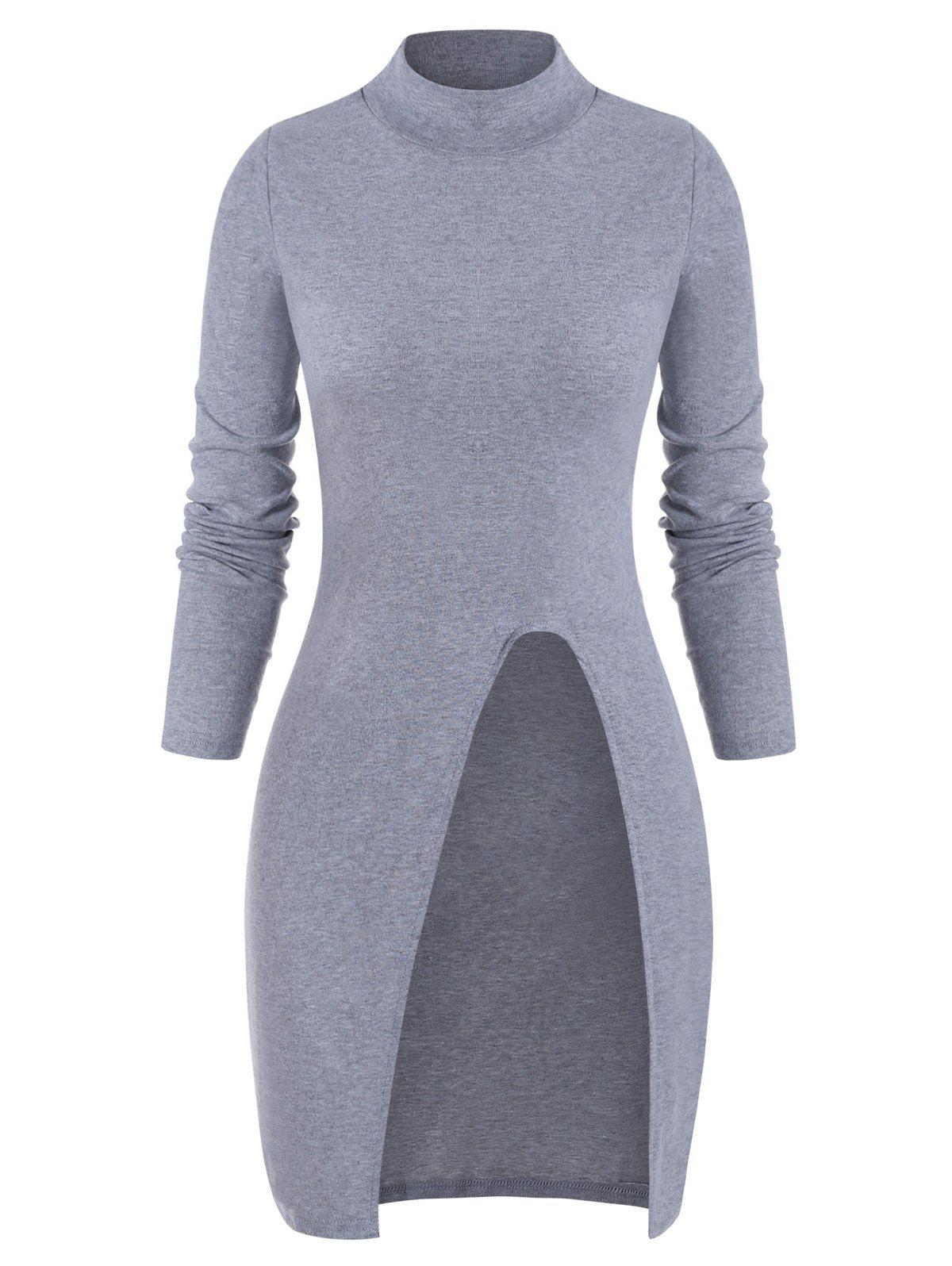 Best Cut Out Solid Long Sleeves Knitwear