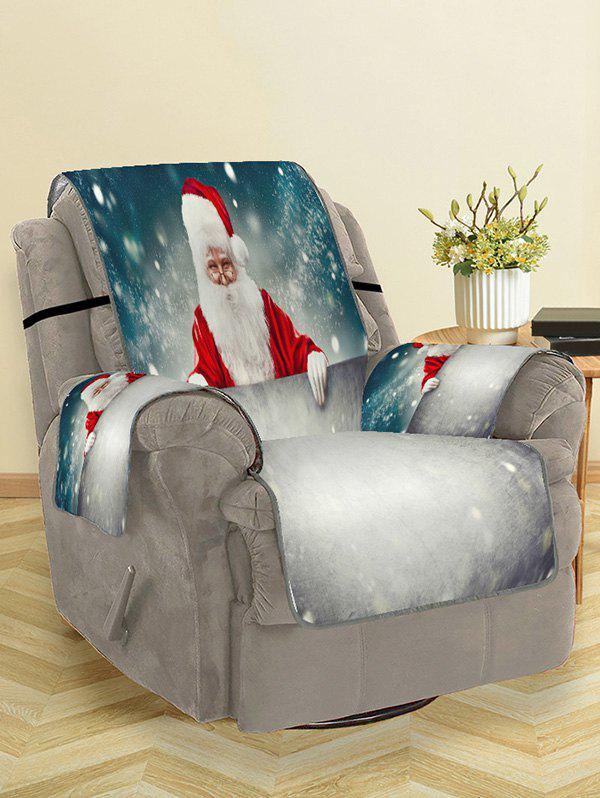 Unique Christmas Santa Claus Snow Patterned Couch Cover