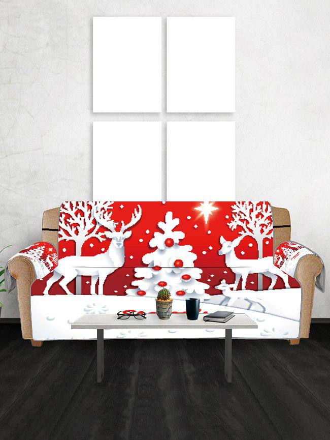 Hot Christmas Tree Deer Greeting Pattern Couch Cover