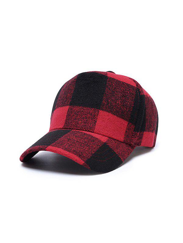Sale Winter Plaid Pattern Baseball Cap