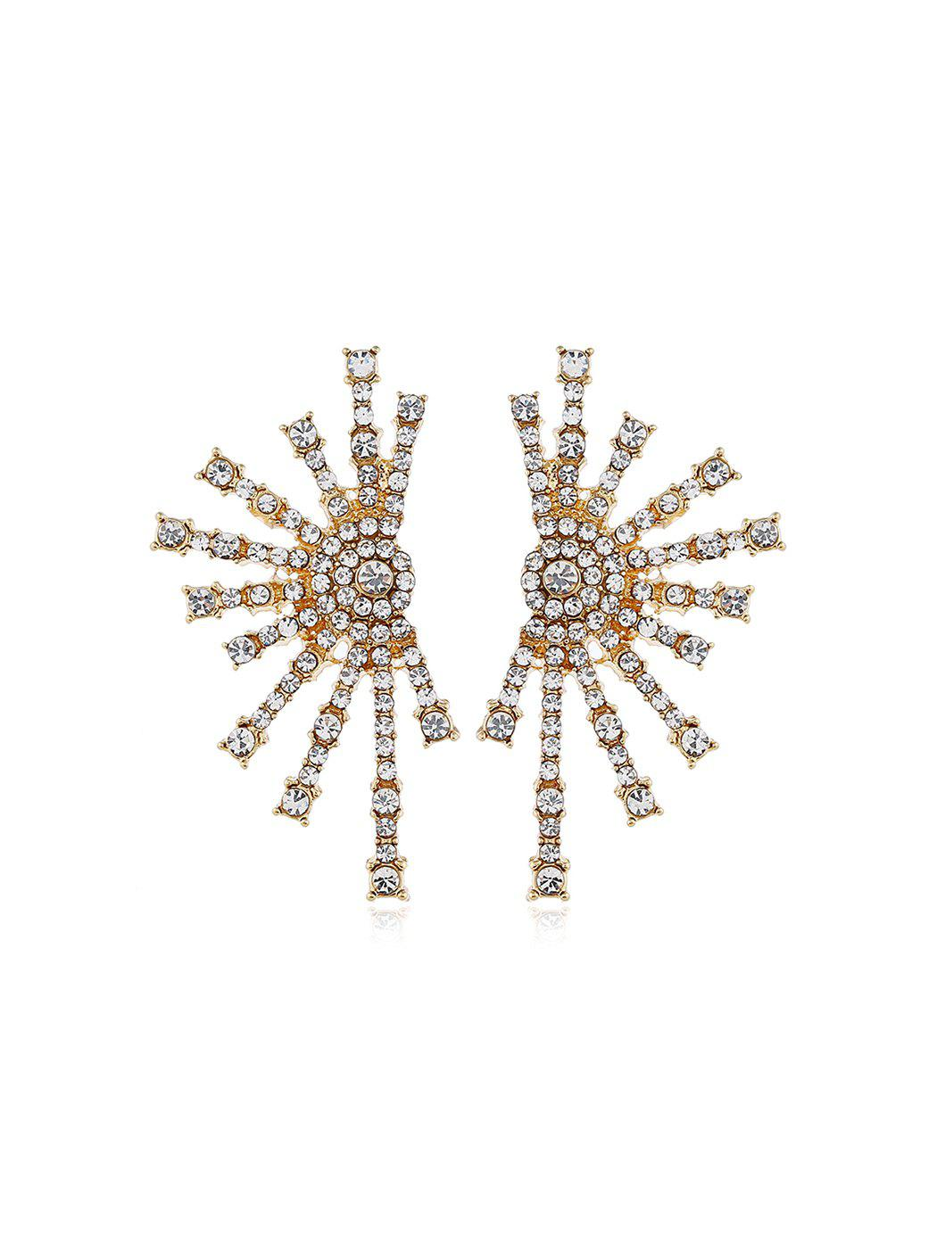 Shop Firework Shape Rhinestone Stud Earrings