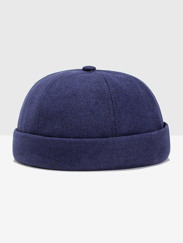 Cheap Solid Adjustable Dome Turn Up Edge Hat