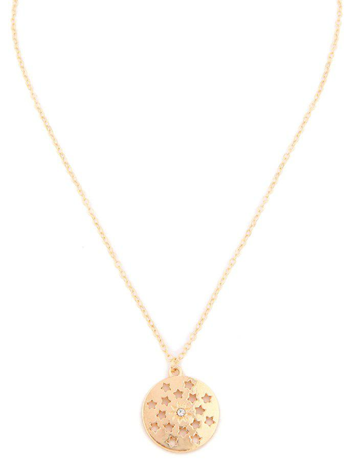 Best Hollow Star Round Pendant Necklace