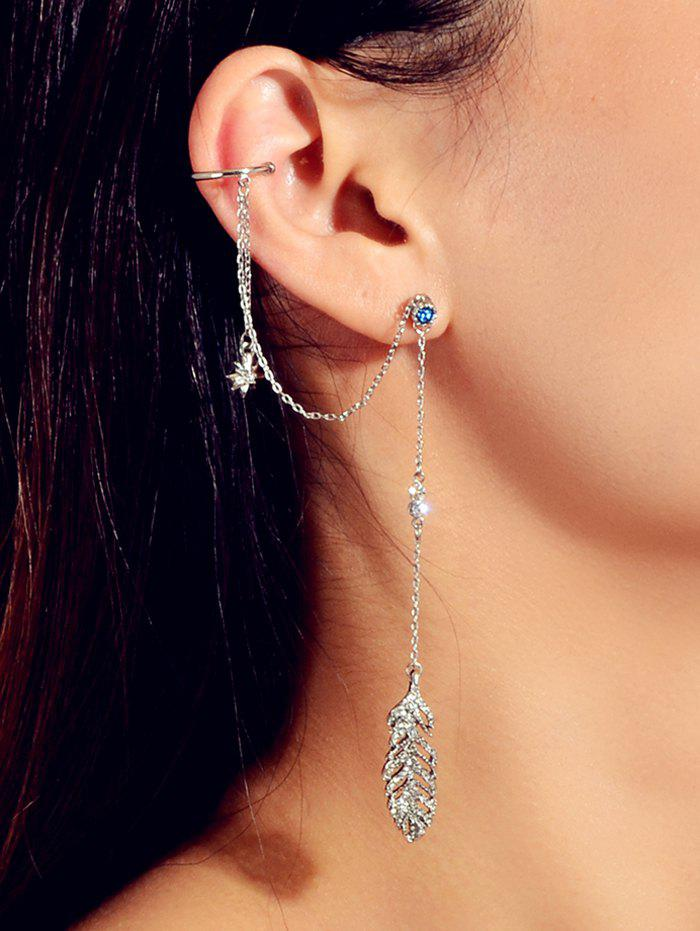Outfit Drop One-piece Feather Shape Earring