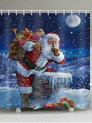 Christmas Chimney Santa Claus Gifts Pattern Waterproof Bathroom Shower Curtain - from $20.20