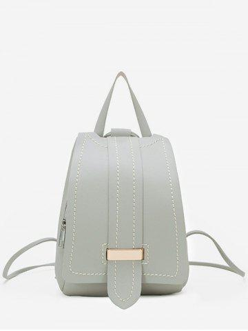 Strap Accent Flap PU Leather Backpack