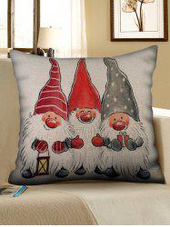 Father Christmas Pattern Pillow Cover -