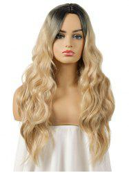 Synthetic Center Part Ombre Body Wave Long Wig -
