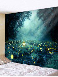 Forest Firefly Printed Tapestry -