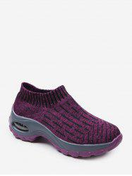 Heather Knit Slip On Sneakers extérieure Plate-forme -