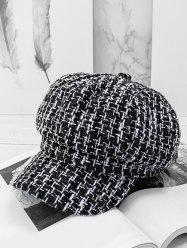 Plaid Sequins Casual Newsboy cap -