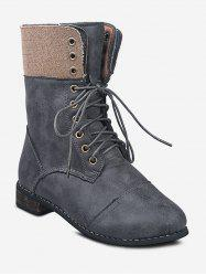 Lace Up Cargo Mid Calf Boots -