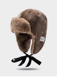 Winter Velour Ear Knitted Trapper Hat -