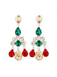 Boucles d'oreilles en strass Teardrop Chandelier - Multi