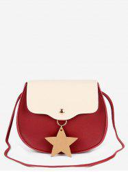 Star Charm Flap Mini Crossbody Bag -