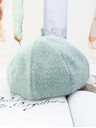 Solid Fuzzy Japanese Beret Hat -