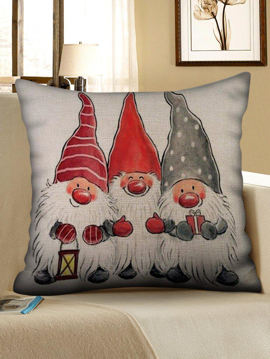 Discount Father Christmas Pattern Pillow Cover