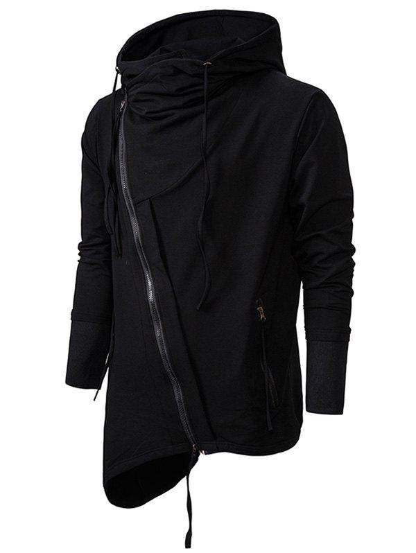Affordable Plain Asymmetric Gothic Hoodie